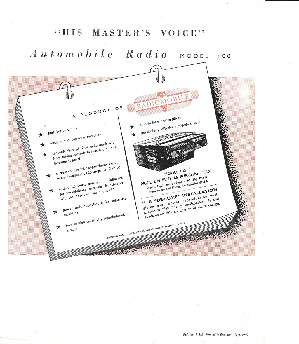 Radiomobile Model 100 Brochure