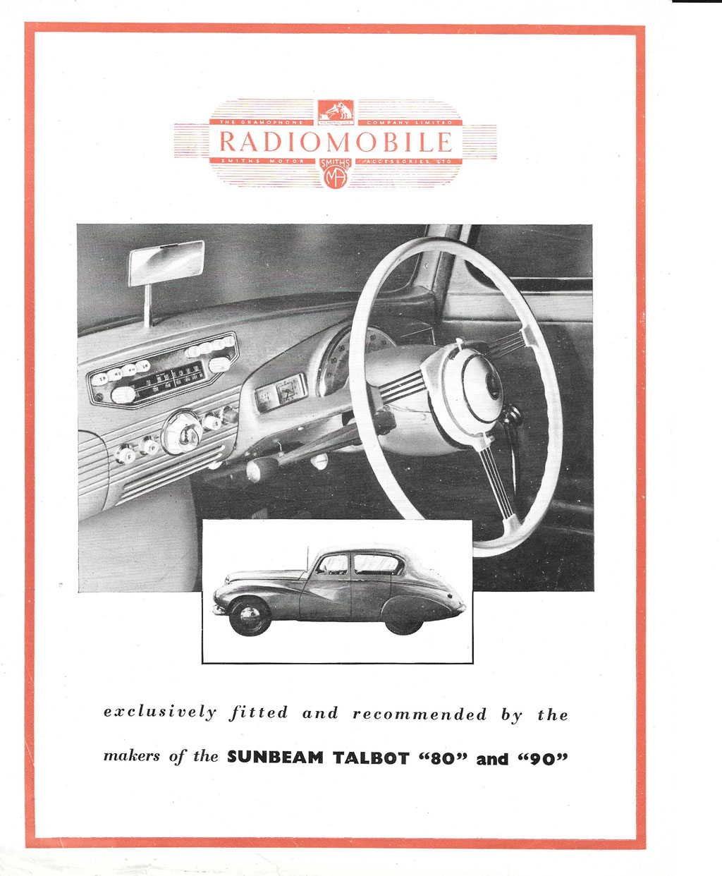 Radiomobile Model 100 in Sunbeam Talbot 80/90